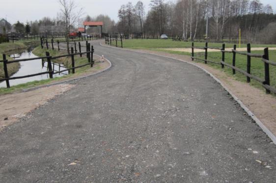 Budowa drogi w Osadzie Popowo
