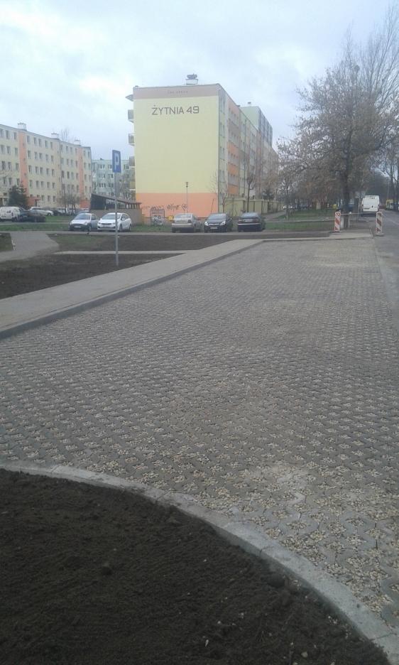 Budowa parkingu przy ul. Żytniej we Włocławku