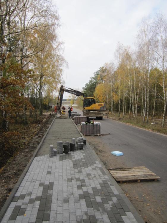 Rozbudowa drogi powiatowej nr 2910C Nowa Wieś – Smólsk – Kruszyn – roboty brukarskie