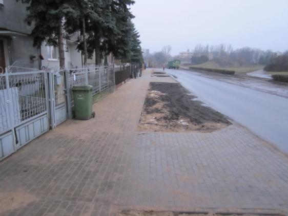Budowa chodnika przy ul. Kraszewskiego we Włocławku